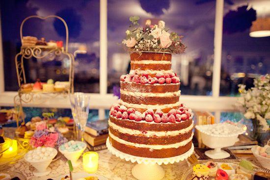 Naked Cakes. Tendencia en tartas de boda