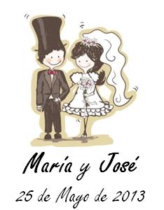 Plantilla para etiquetas de regalos de boda en formato Word