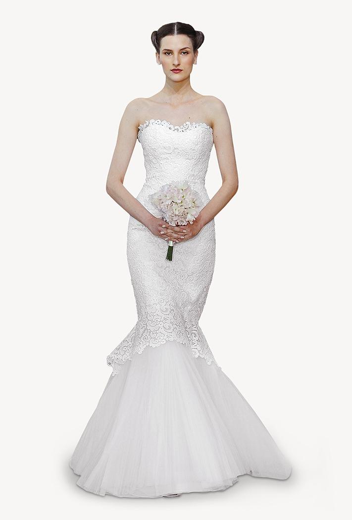 Un precioso vestido de corte sirena