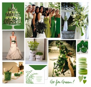 Detalles de boda en verde