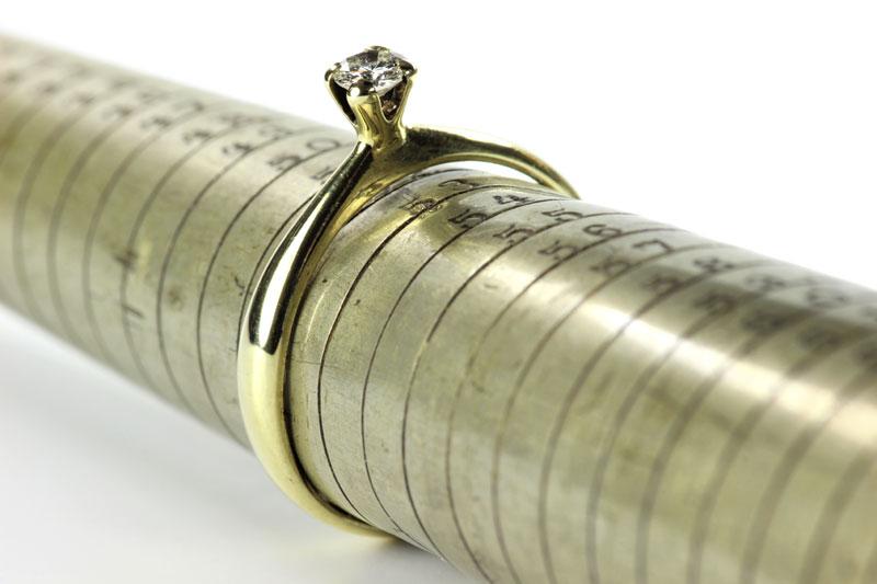 3 sistemas para saber la talla de tu alianza de boda