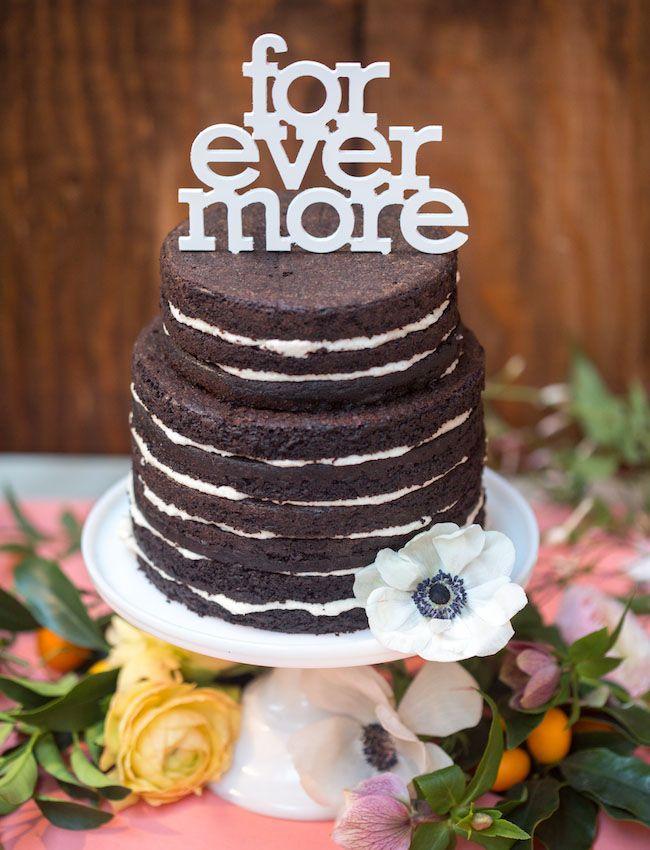 Naked Cakes con flores y letras