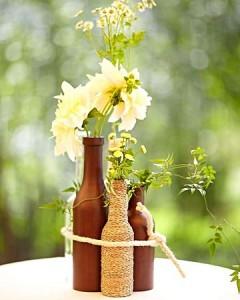 Botellas decorando tu boda 1