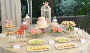 CandyBar a juego con la decoración de la boda