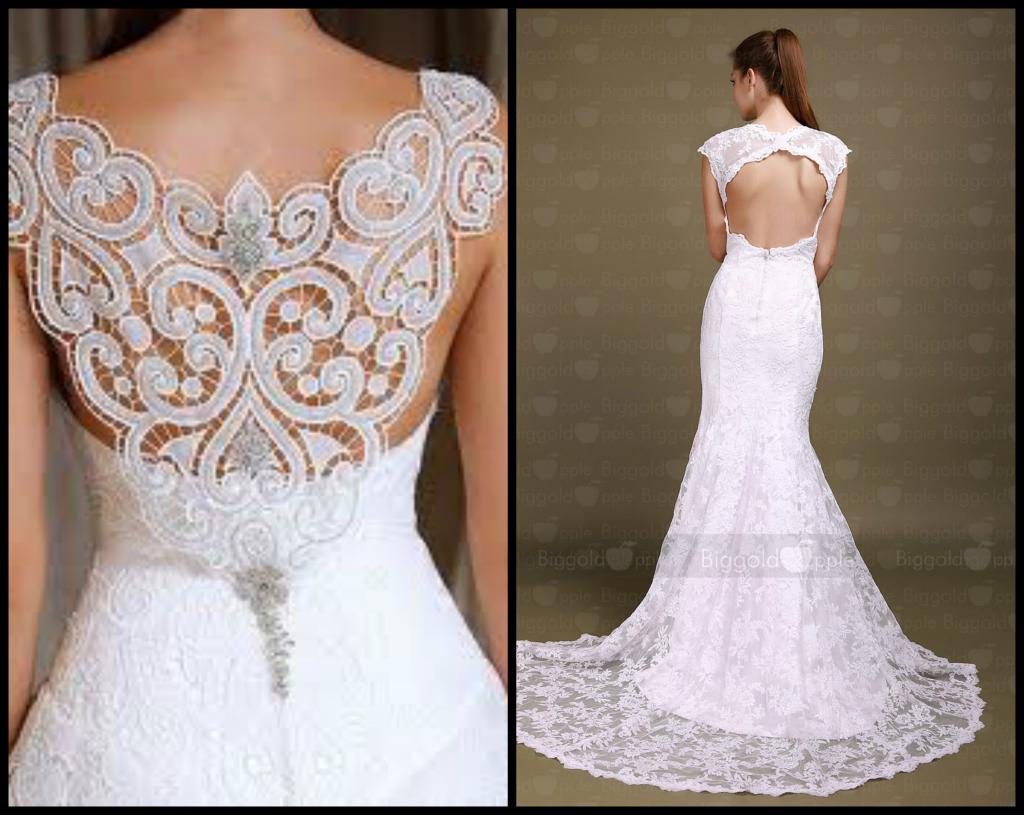 Vestido de novia con Espalda con encaje