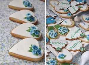 Galletas para tus invitados con forma de corazón