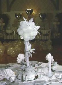 Globos como centro de mesaGlobos como centro de mesa