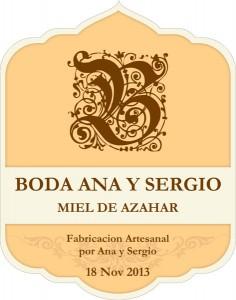 Etiqueta Ana y Sergio
