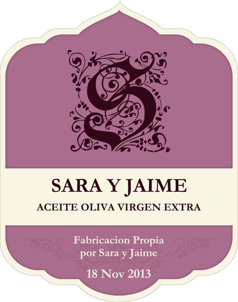 Etiqueta Sara y Jaime