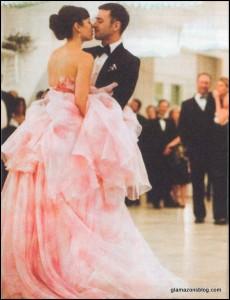 Beso de Justin Timberlake y Jessica Biel en su boda