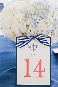 Números de mesa marineros