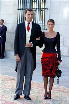 Princesa Leticia junto a Príncipe Felipe