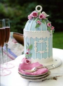 Tarta de boda retro