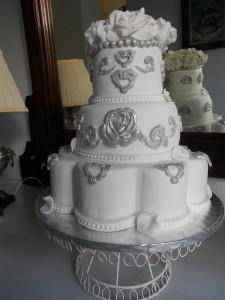 Tarta de bodas estilo barroco
