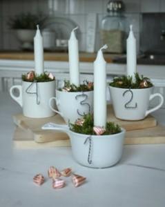 Tazas decorando tu boda