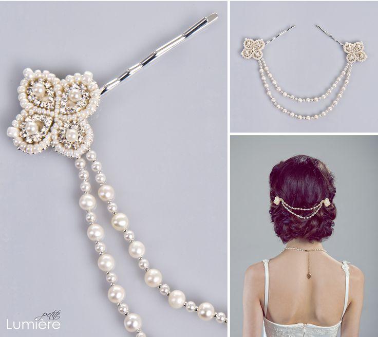 Cadena de perlas de Etsy.com. Si tegustan las perlas ¡Esta es la tuya!