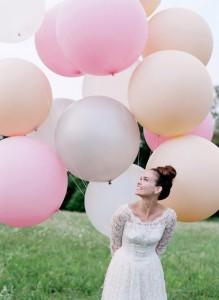 Foto novia con globos grandes
