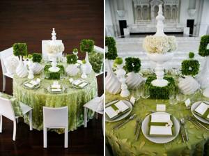 Motivos de boda en color verde
