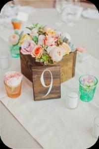 detalles en madera - toque rural boda
