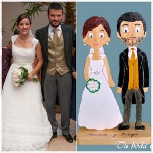Tu boda en madera. Figuras de novios personalizadas