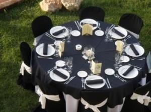 Mesa de boda en Negro y Blanco