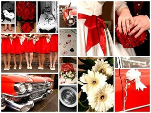 Detalles de boda en rojo